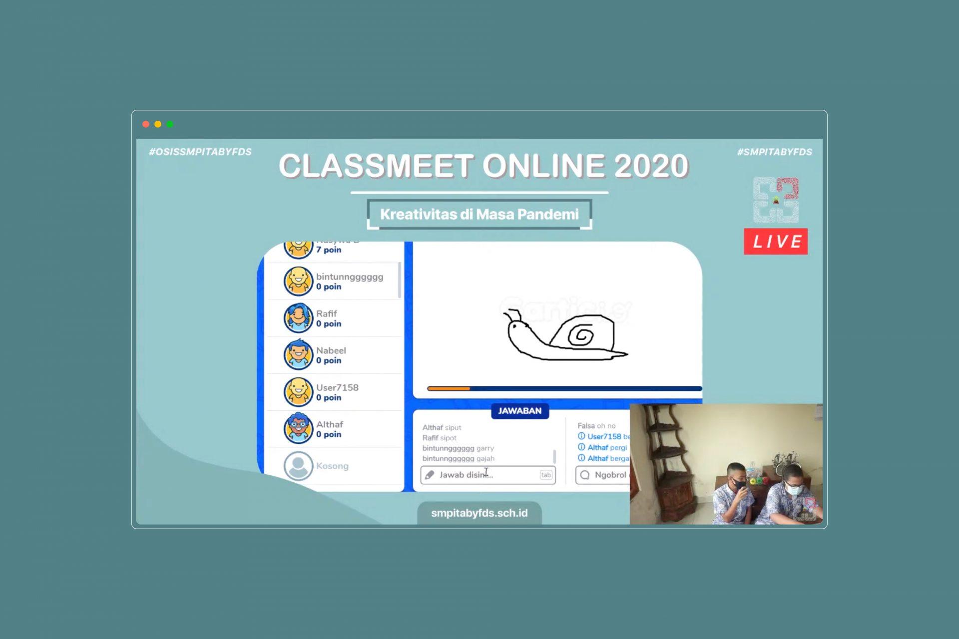Classmeet Online, Tetap Kreatif dari Rumah