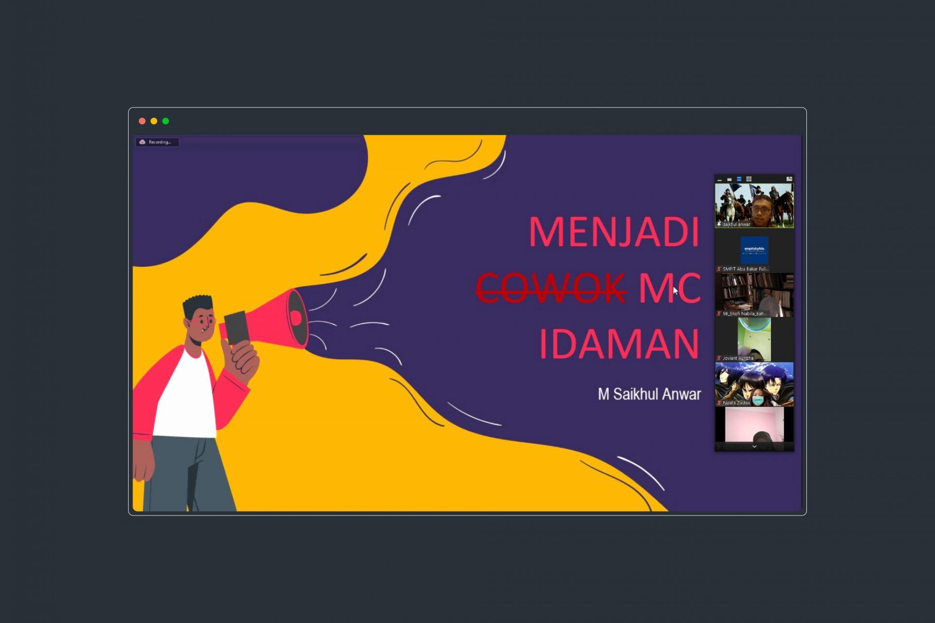Leadership School 2021 Tips Menjadi MC Idaman