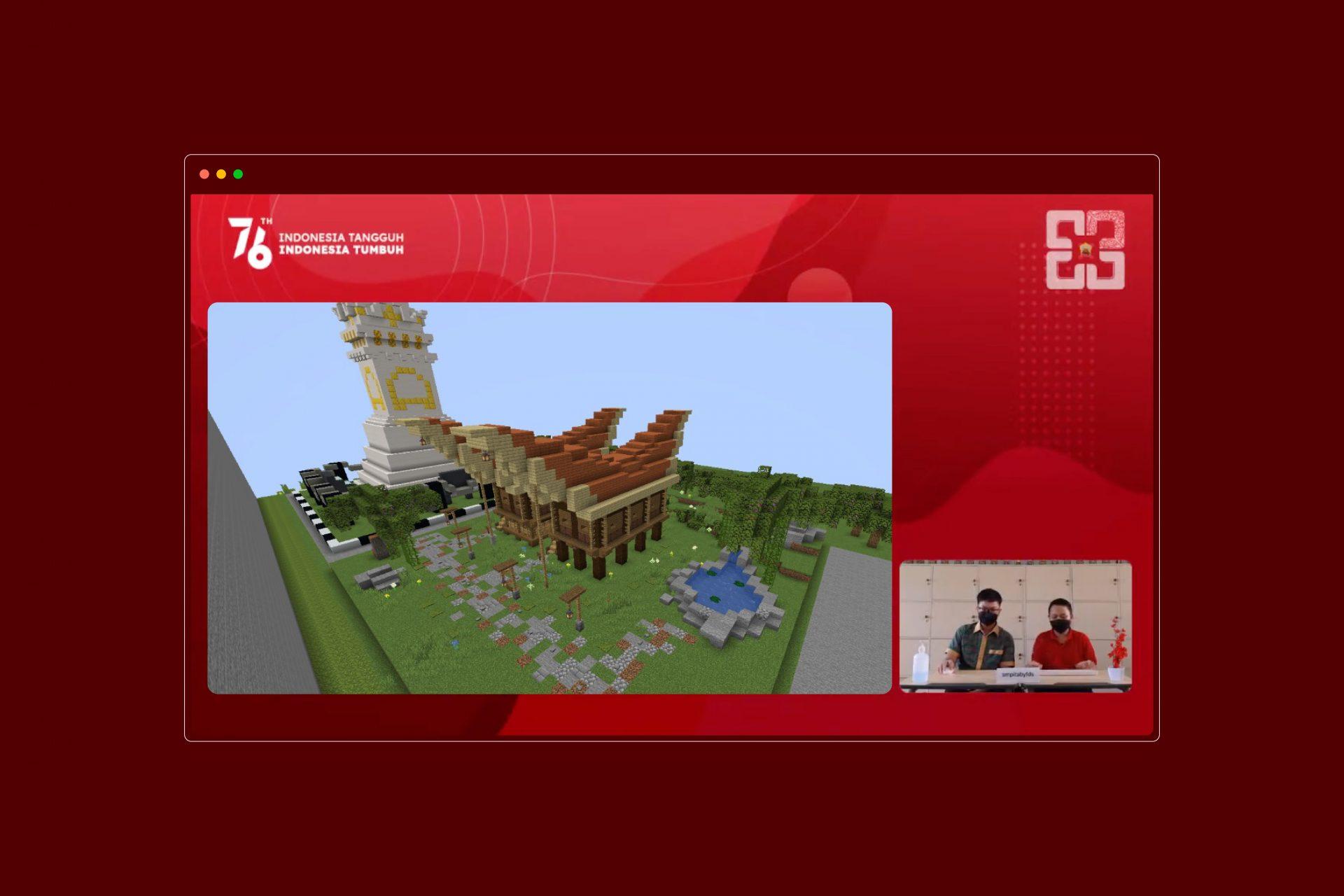 Potret Lomba Agustusan SMPIT Abu Bakar Fullday School, dari Lomba Minecraft Build hingga Tarik Tambang Online